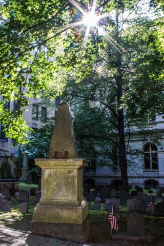 King's chapel burying ground in Boston