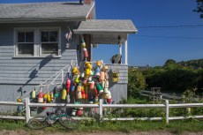 House with buoys on Peaks Island