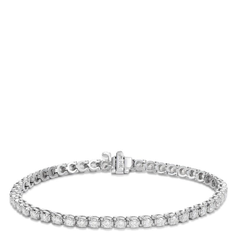 Large Of Diamond Tennis Bracelet