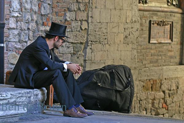 Jazz musician in Perugia, Umbria, Italy