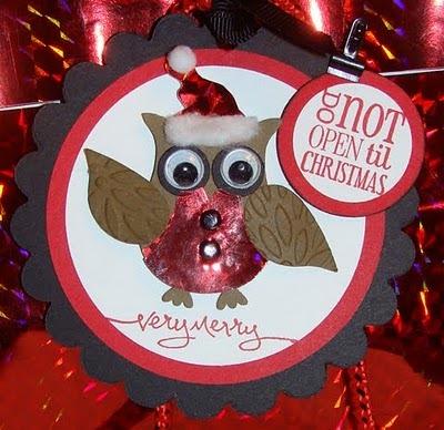 owl gift tag