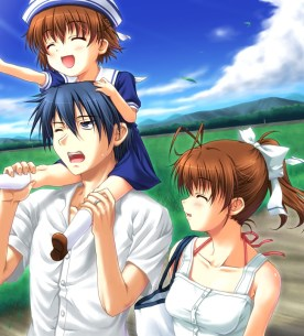 Tomoya, Nagisa and Ushio