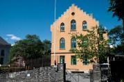 I 1737 ble Kristi Krybbe skole grunnlagt som Korskirkens fattigskole. Den er dermed Norges eldste eksisterende grunnskole. Fotograf: Katarina Lunde. Seksjon informasjon, Bergen kommune.