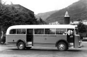 Buss fra Laksevaag kommunale rutevogn. Fotograf: Einar Bakke.