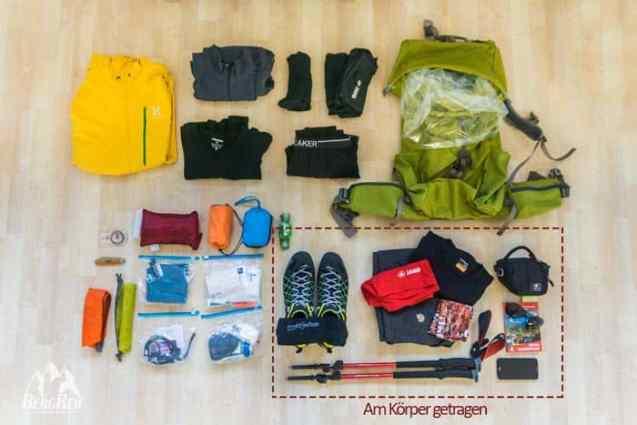 Packliste Hüttentour Packliste Minimalismus