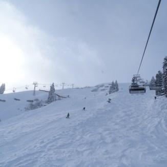 Skiroute unter der Madrisella Seselbahn