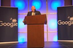 Pictured: Berkeley County Supervisor Bill Peagler speaks at Googlefest 2016.