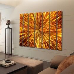 Chic Oversized Wall Art Regarding Ness Oversized Metal Wallart Oversized Wall Art Wall Art Ideas Mural Amber Vortex Xl Extra Collection