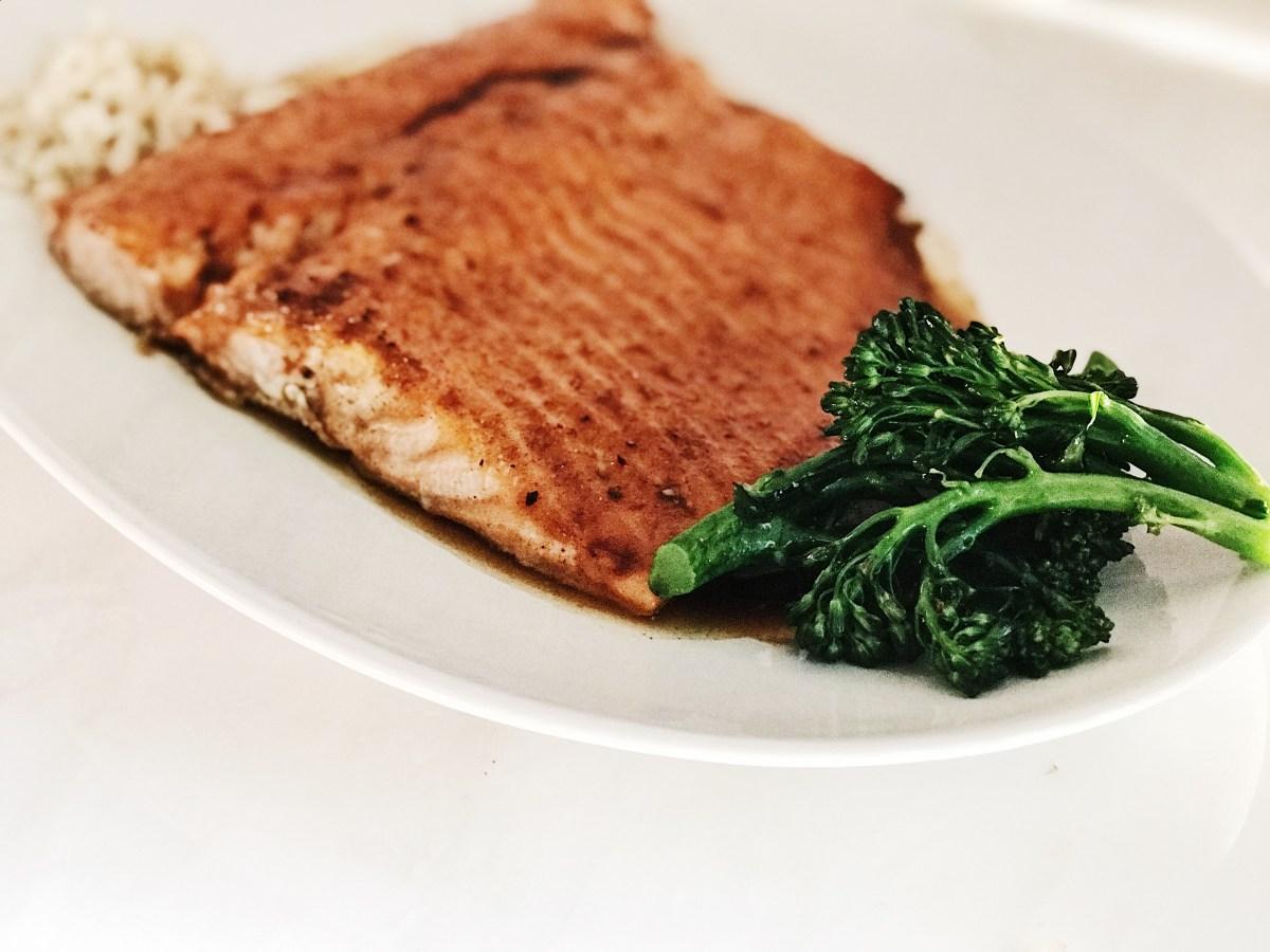 Coriander Agave Glazed Salmon