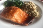 quick and easy salmon with coriander glaze