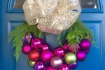 Wire hanger Christmas wreath 1