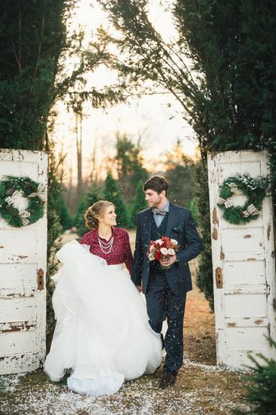 Festive Wedding Inspiration on a Christmas Tree Farm 9