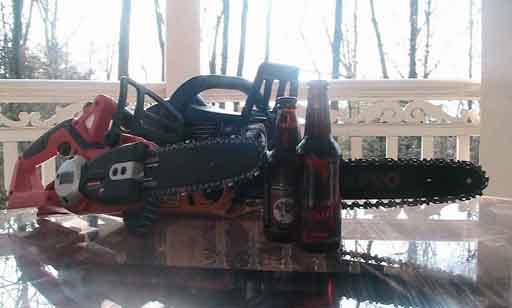 Chainsaw and Beer