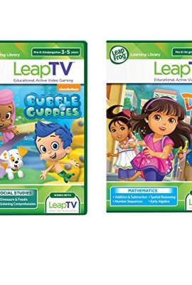 LeapFrog-LeapTV-Active-Video-Learning-Toys-2-Game-Value-Pack-Bundle-Dora-and-Friends-Nickelodeon-Bubble-Guppies-0