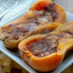 In Season :: Baked Squash with Apple Stuffing