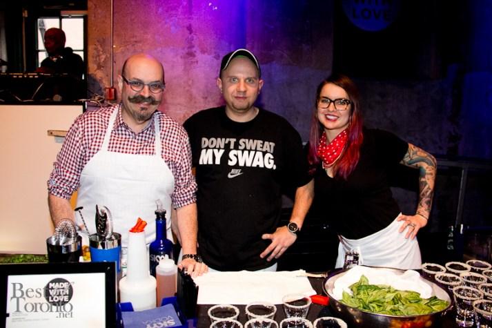left: Chef Massimo Capra, center: Adrian Stein - Mistura/Sopra Upper Lounge