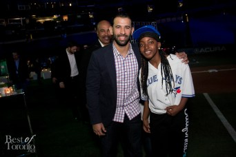 José Bautista with a fan