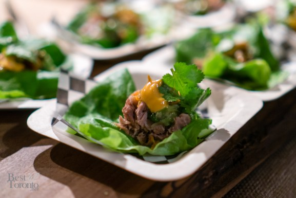 Pork bo ssam with lettuce wraps