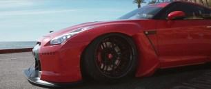 Nissan GT R Rocket Bunny com rodas Rotiform