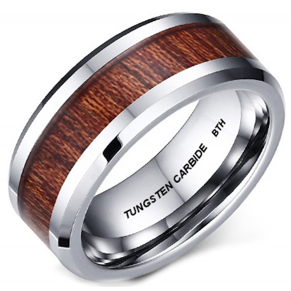tungstenrings tungsten carbide wedding rings 12MM Brushed Black Tayloright Tungsten Carbide Ring