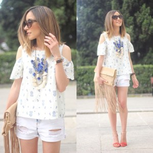 Denim are for summer #shorts #denim #top #offtheshoulder #sunnies #summer…