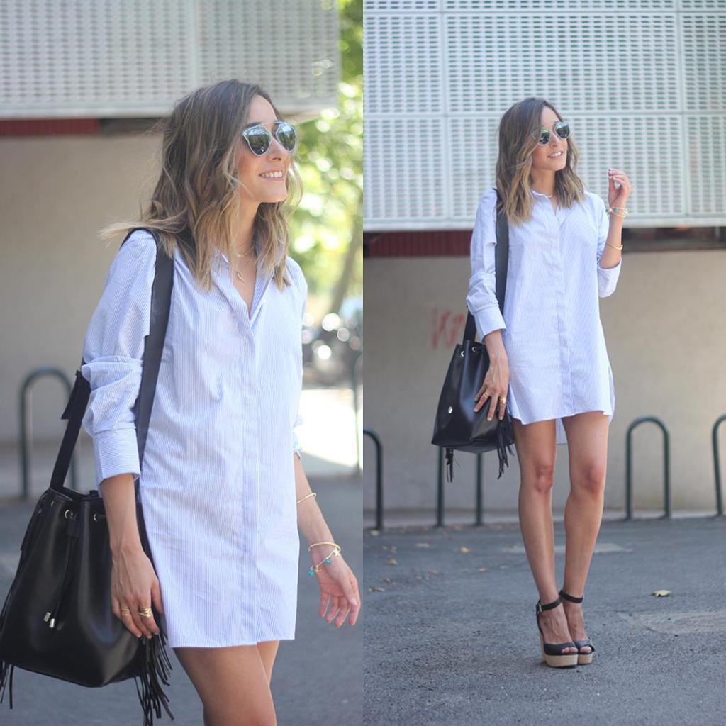 Nuevo post en el blog con vestido camisero New posthellip