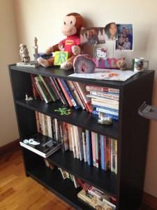 one of my office bookshelves