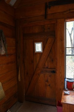 Guest cabin door window