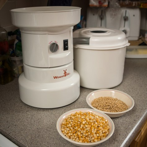 Corn and Hard White Wheat ready to grind