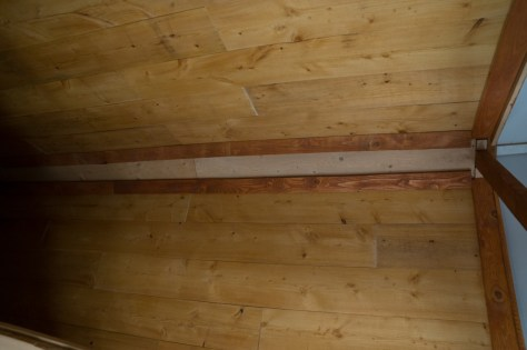 completed Guest Cabin ceiling