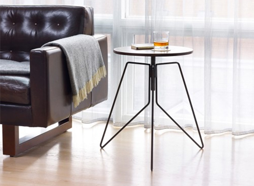 Coleman Height-Adjustable End Table