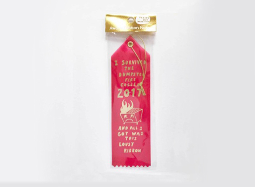 Dumpster Fire Called 2017 - Award Ribbon Card