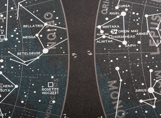 Map of the Constellations from Best Made