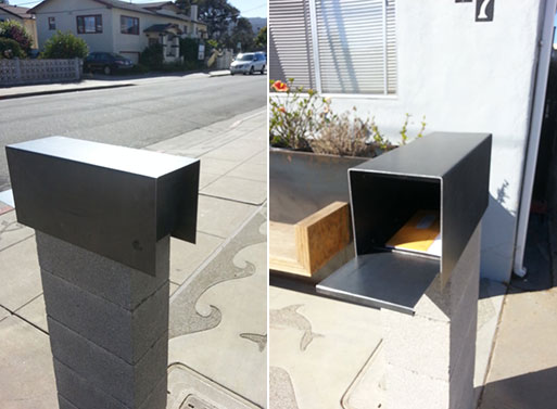Modern Steel Mailbox