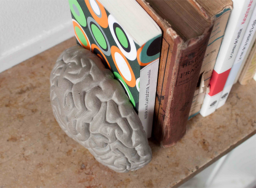 Concrete Brain Bookends