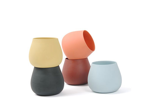 Porcelain Cups by Aldo Bakker for Particles