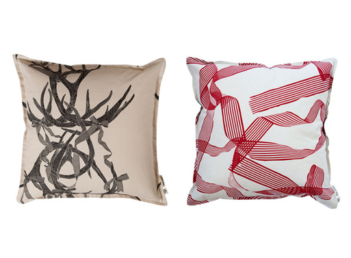 Antler and Ruby cushion covers