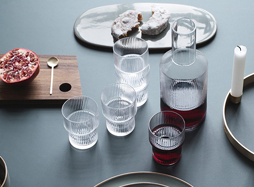Ripple Glasses and Carafe