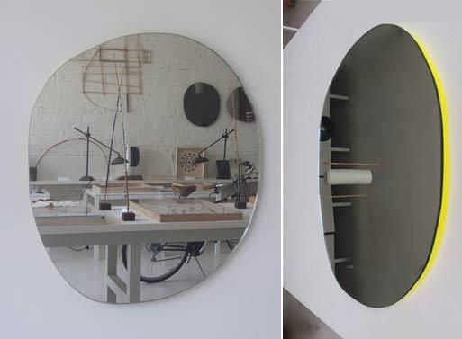 Irregular Round Mirror Yellow mc&co