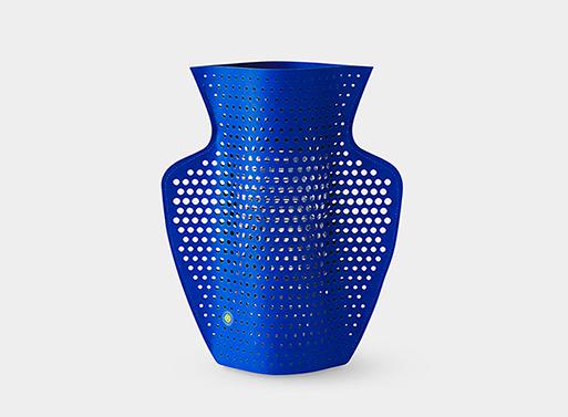 Paper Vase blue