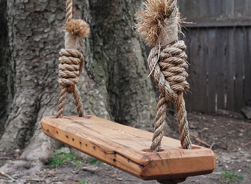 Reclaimed Wood Tree Swing