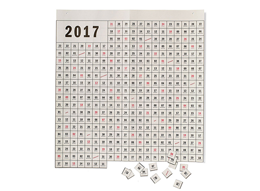 Perforated Calendar