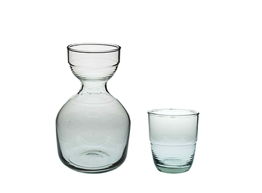Recycled Glass Small Carafe & Tumbler
