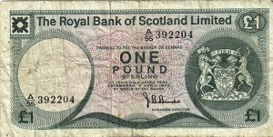 A pound, yesterday