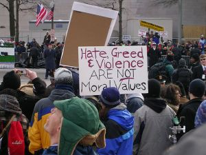 hate greed violence