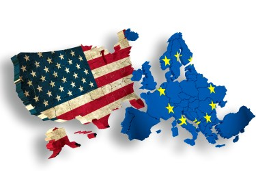 USA and EUROPE / EU - Symbol for TTIP