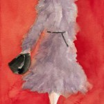 Gray Coat Watercolor Fashion Illustration