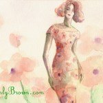 Fashion Painting Inspired by Spring Flowers