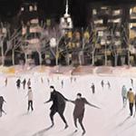 New York Nocturne: Ice Skaters in Bryant Park