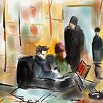 Digital Sketchbook: Book Court Brooklyn